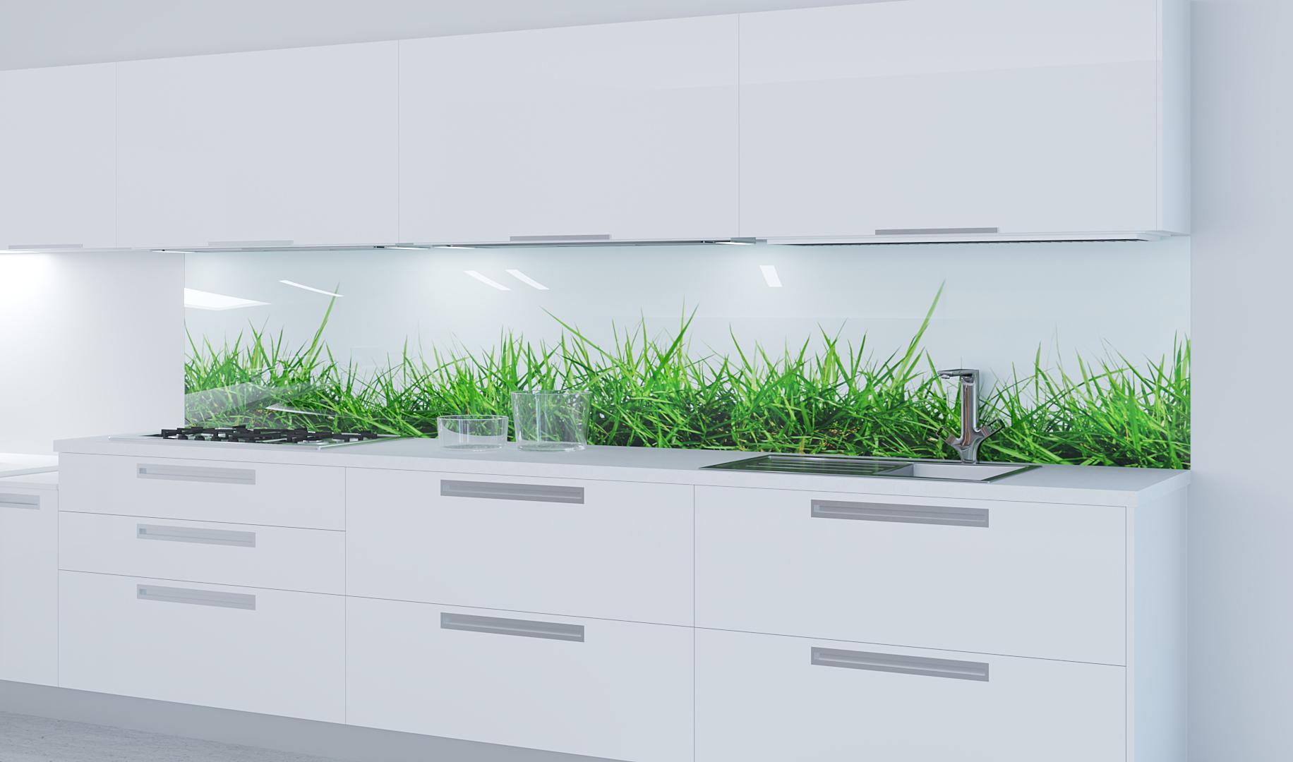 Glasküchenrückwand mit Motivdruck