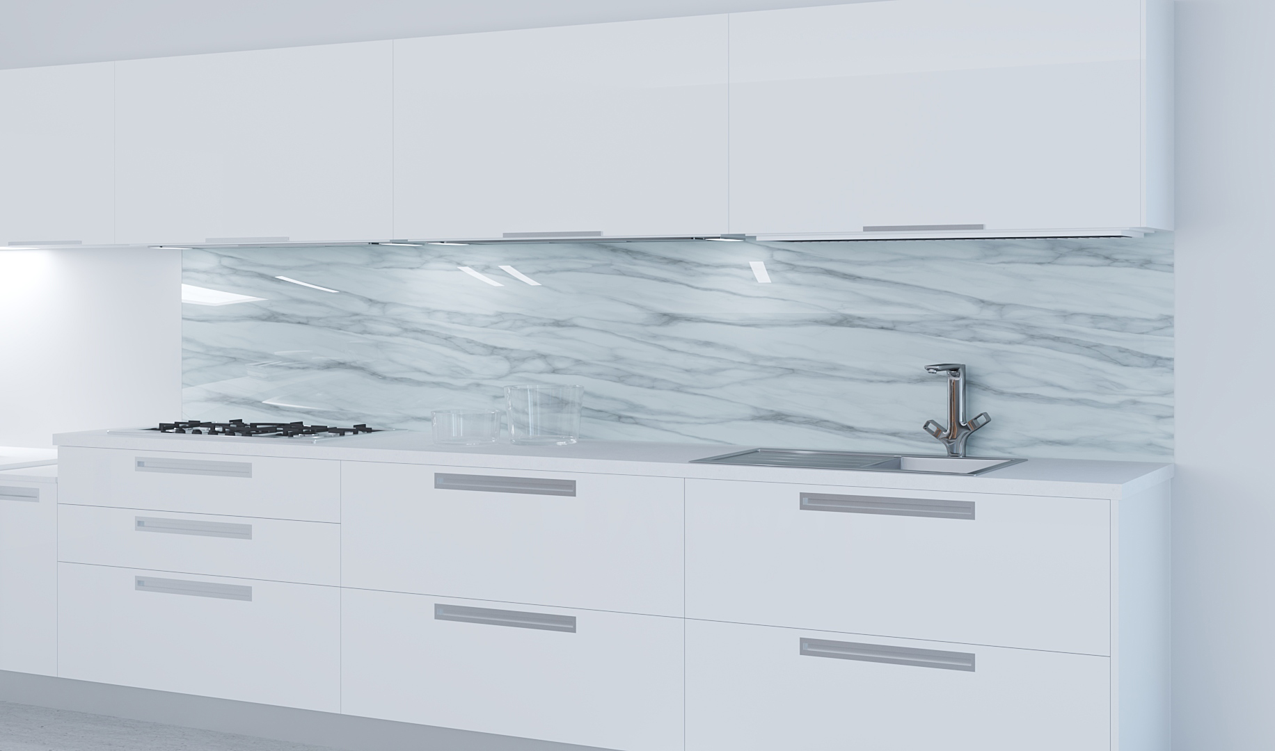 Küchenrückwand Glas Marmormotiv