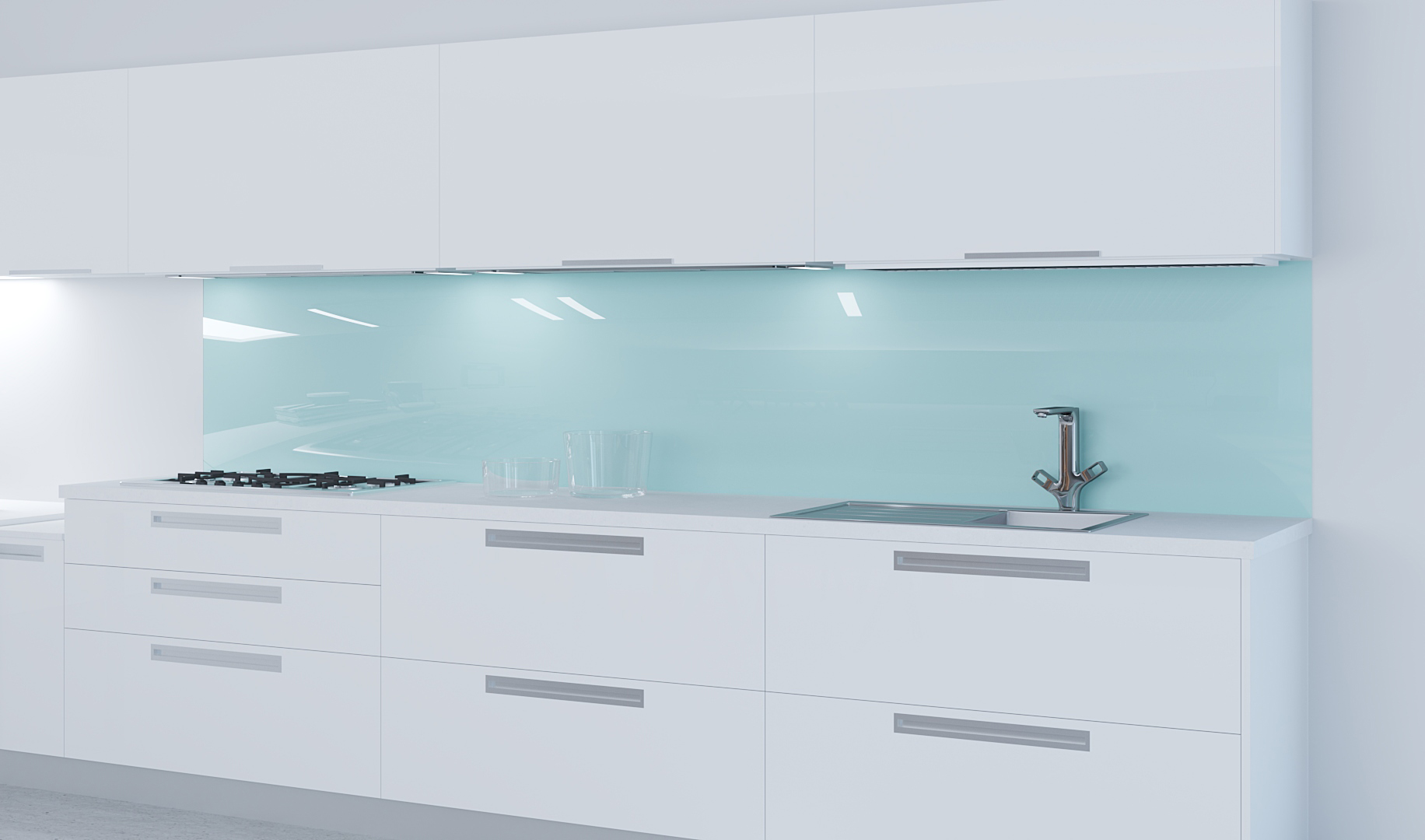 Küchenrückwand mit RAL Farbe