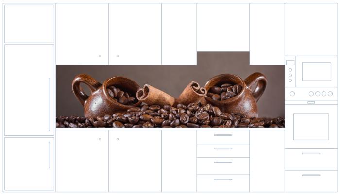 Glasrückwand mit Motiv Kaffebohne