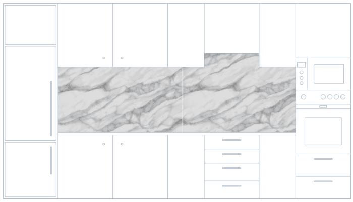 Küchenrückwand mit Marmortextur hell