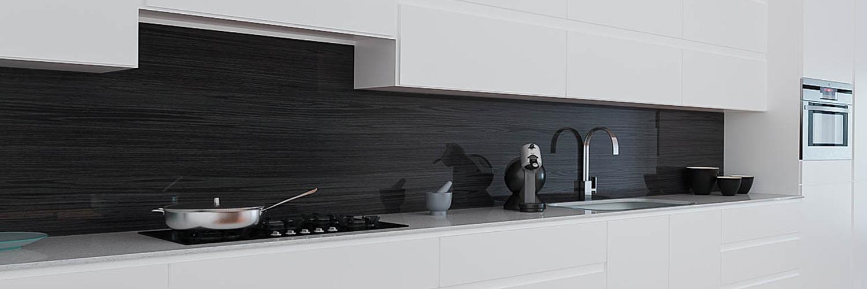 Küchenrückwand in Holzoptik